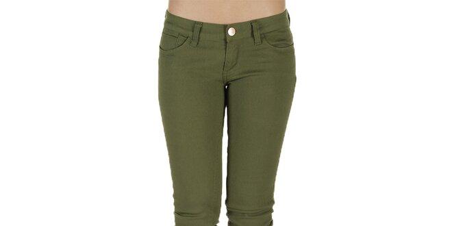 Dámske olivové nohavice New Caro