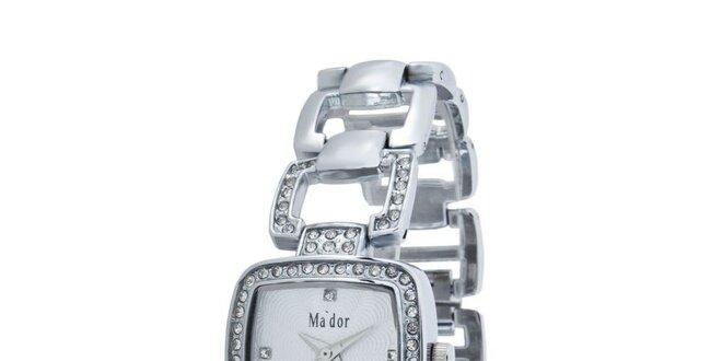 Dámske hodinky s bielym ciferníkom Ma´dor  98fcb837764