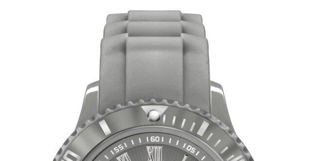 Šedé analógové hodinky s rímskymi číslicami Riko Kona