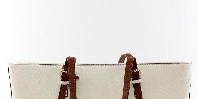 Dámska krémovo biela kabelka Beverly Hills Polo Club v matnej úprave