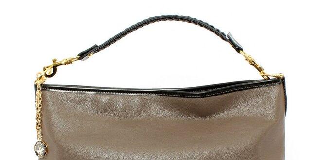 Dámska hnedočierna kabelka s jedným uchom Beverly Hills Polo Club