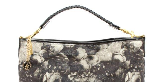 Dámska kabelka so šedou kvetinovou potlačou Beverly Hills Polo Club