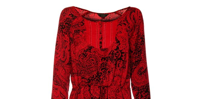 3759ea3b39a8 Dámske červeno-čierne šaty Guess