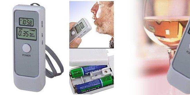 Digitálny ALKOHOL TESTER presný, kvalitný s duálnym LCD displejom