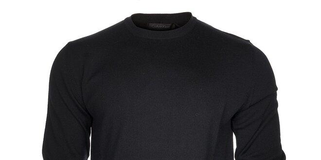 27e33083e7 Pánsky čierny sveter Calvin Klein
