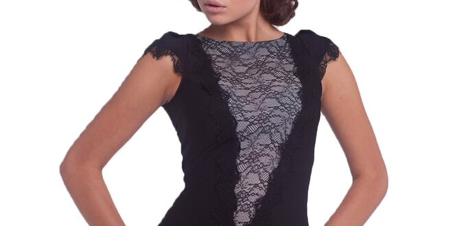 Dámske čierne čipkované šaty Arefeva
