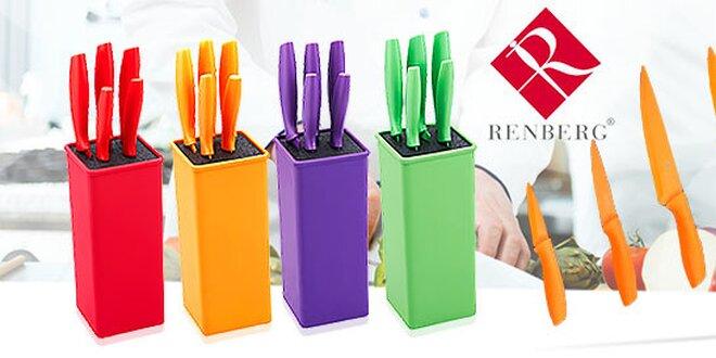 Sada nožov v trendových farbách