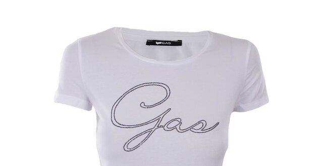 Dámske biele tričko Gas