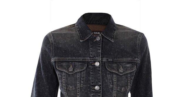 Dámska čierna džínsová bunda Gas