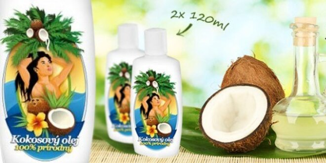 100 % prírodný kokosový olej 120 ml