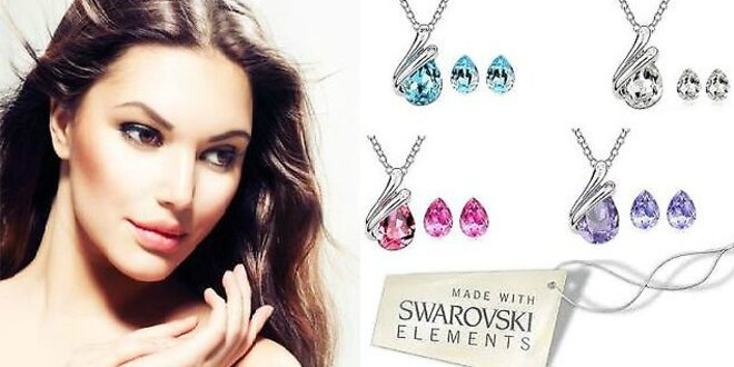 Dámsky náhrdelník a náušnice značky Swarovski elements