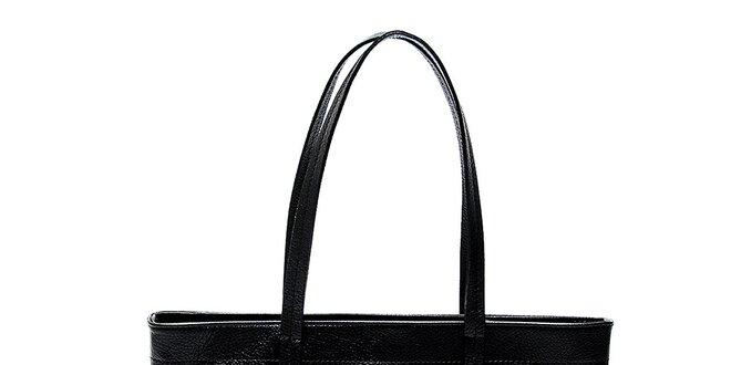 Elegantná čierna kožená kabelka Renata Corsi  fd9a7c6653a