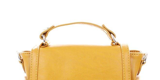 Dámska žltá kabelka so zámčekom Tantra  642470a8191