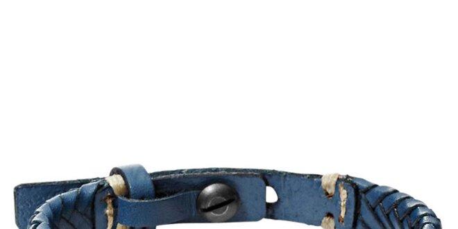 Dámsky modrý kožený náramok Fossil