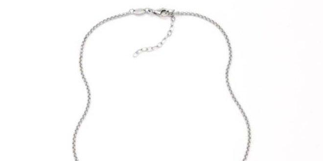 Dámsky oceľový náhrdelník s príveskom Fossil