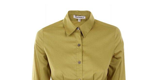 Dámska žltozelená košeľa Emma Pernelle