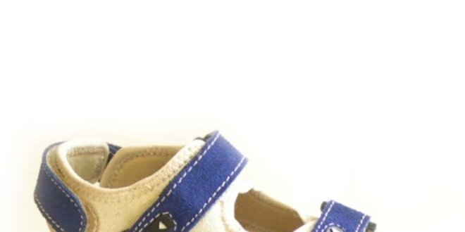 Detské modro-béžové sandálky Numero Uno
