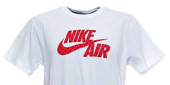2d7cc9109d8a Pánske biele tričko s červenou potlačou Nike