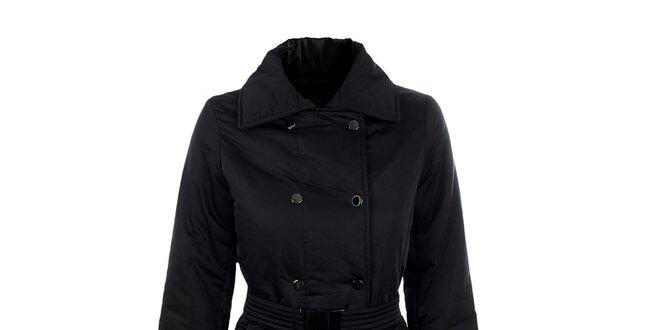 Dámsky čierny elegantný kabát s opaskom Company Co  b272f1a5418