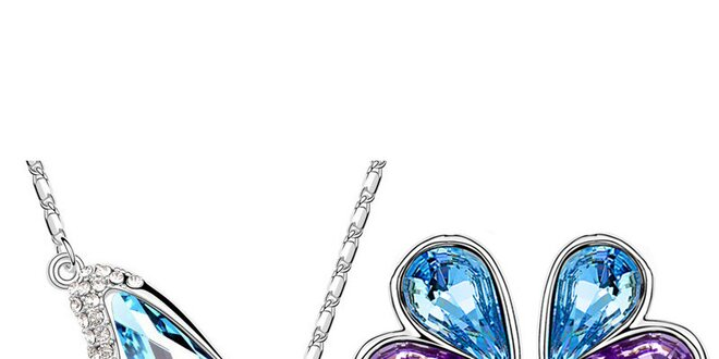 Krásna 3-dielna súprava šperkov v 4 farbách zdobená kryštálmi