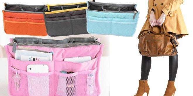 Praktický organizér do kabelky v 6 farebných prevedeniach s poštovným v cene