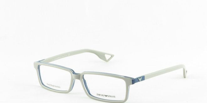 Šedo-modré dioptrické okuliare Emporio Armani  c9a2db59799