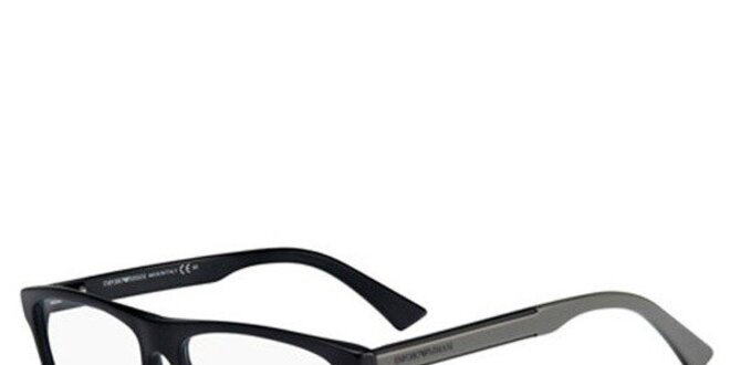 Čierno-šedé hranaté okuliare Emporio Armani  da7b9543584