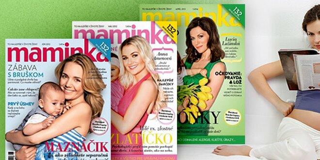 Ročné predplatné časopisu MAMINKA