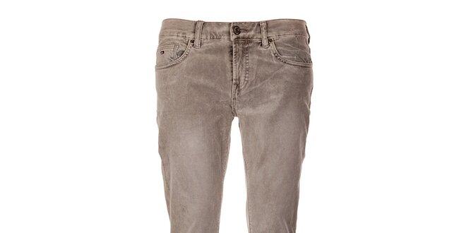 Šedé úzke nohavice Tommy Hilfiger