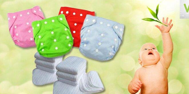 Textilné plienky a plienkové nohavičky v hravých farbách