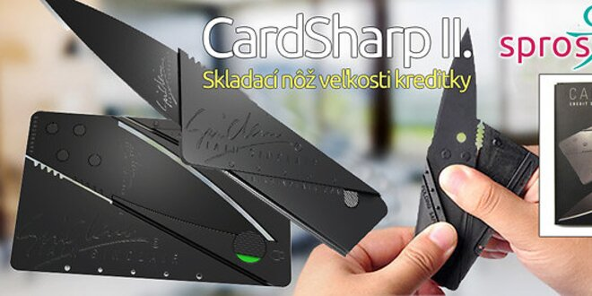 CardSharp II. - Skladací nôž veľkosti kreditky