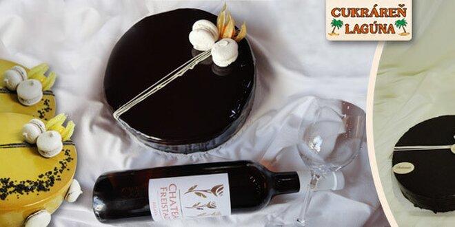 Exkluzívne francúzske torty a víno