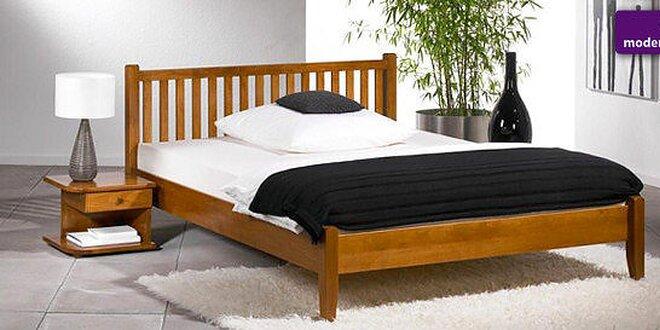 Moderné drevené masívne postele