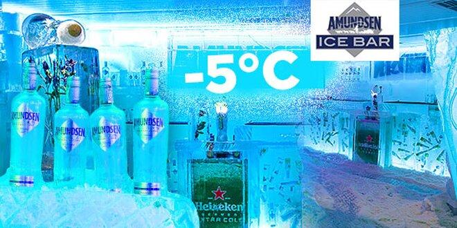 Vstup s ice shotom do ľadového Amundsen Ice Baru