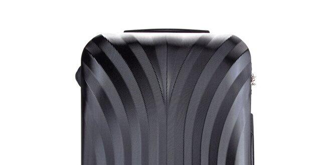Stredne veľký čierny cestovný kufor Wittchen