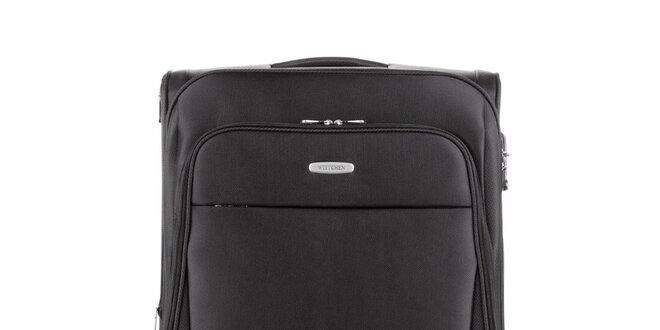 Veľký čierny cestovný kufor Wittchen so štyrmi kolieskami