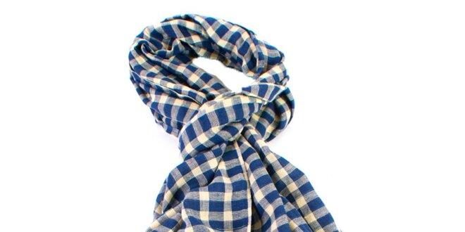 Modro kockovaná šatka Gianfranco Ferré  bfd920da06