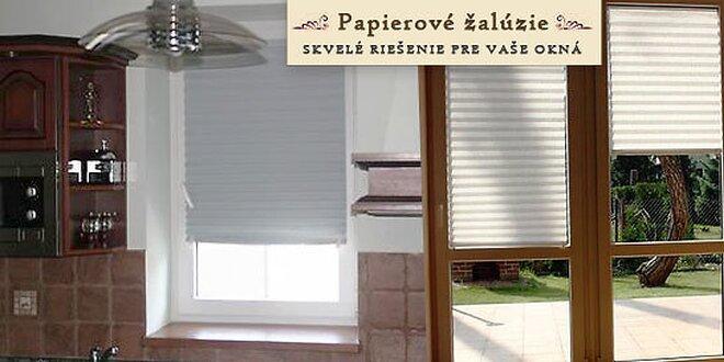 Samolepiace papierové žalúzie na okno