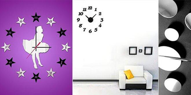 Krásne nalepovacie hodiny na stenu