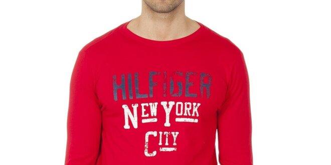 1d88844ce0 Pánske červené tričko s dlhým rukávom Tommy Hilfiger