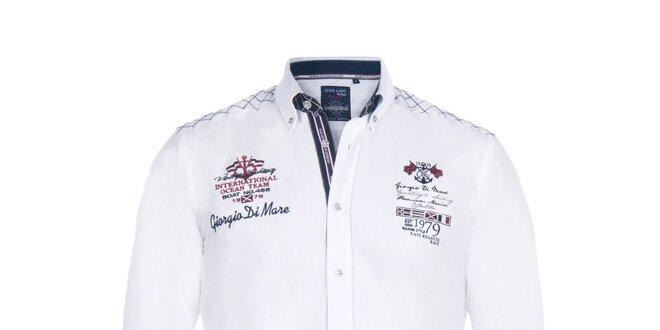 Pánska biela košeľa s vlajkou Giorgio di Mare