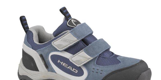 Detská šedo-modrá nízka trekingová obuv Head  7fdfbe18902