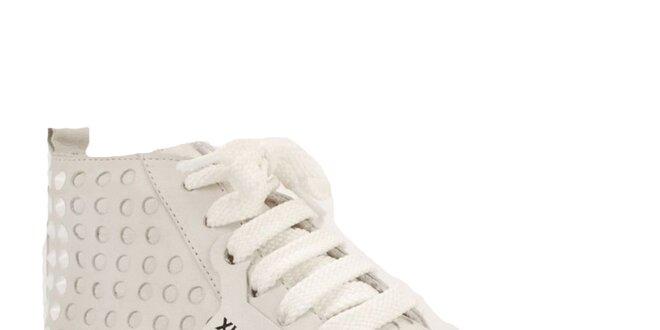 dedabd8fe60a Dámske biele kotníkové tenisky s masívnou platformou Bronx