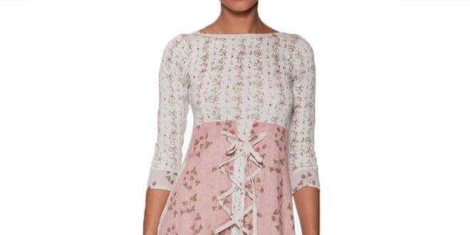 6a5894adae30 Dámske kvetinové šaty s 3 4 rukávmi Ian Mosh