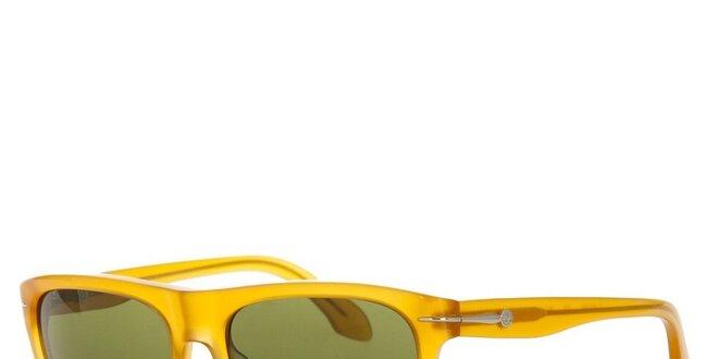 Pánske žlté retro slnečné okuliare Calvin Klein