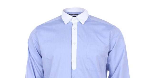 3ca45634f2e2 Pánska svetlo modrá košeľa Pietro Filipi