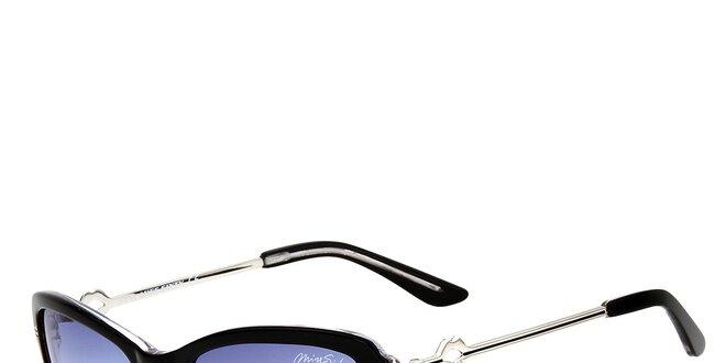 Dámske čierne retro slnečné okuliare s tenkými stranicami Miss Sixty ... 008a63350b9