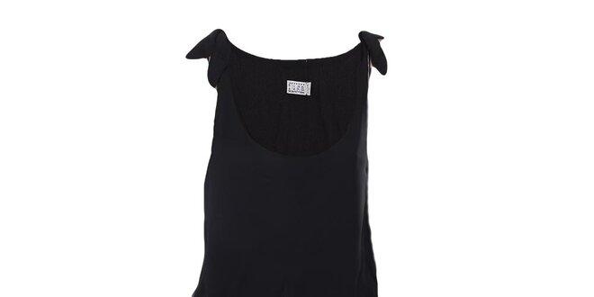 4a1196cef597 Dámske čierne šaty na ramienka Fuga