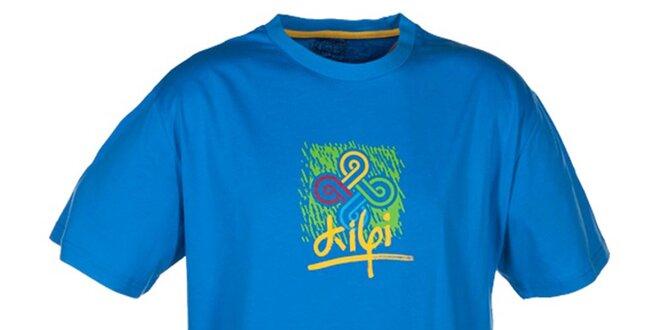 Pánske modré tričko s farebnou potlačou Kilpi