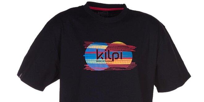 Pánske čierne tričko s obrázkom Kilpi